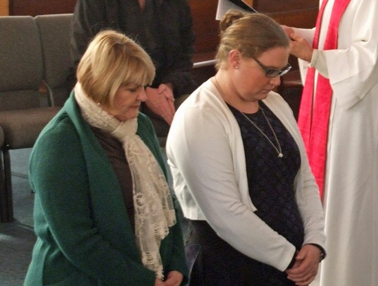 On Sunday Melanie and Laura professed their faith and were confirmed, with the support of the congregation.